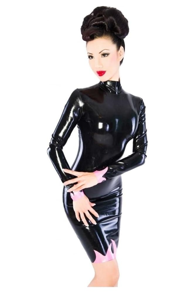 Inferno Latex Rubber Dress.
