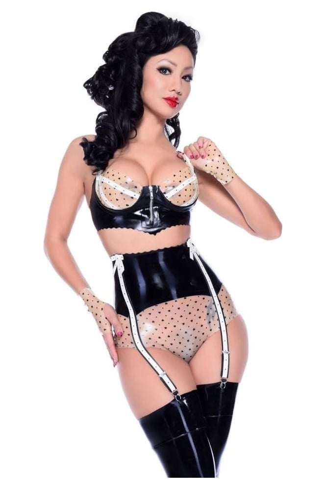 Insanity Latex Rubber Suspender Knickers