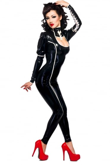 Ishtar Latex Rubber Catsuit.