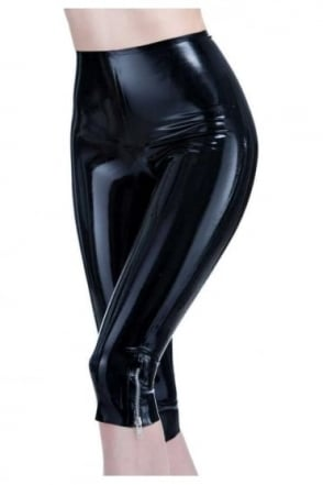 Joy Capri Latex Rubber Leggings