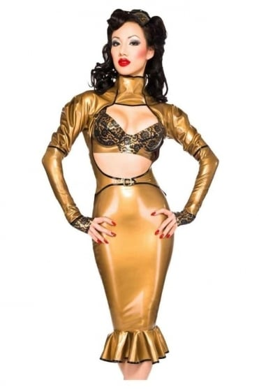 Kick Hem Vixen Latex Rubber Skirt