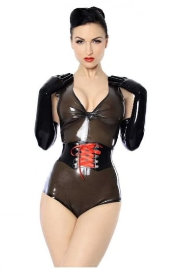 Kittylux Latex Rubber Corset Waist Belt