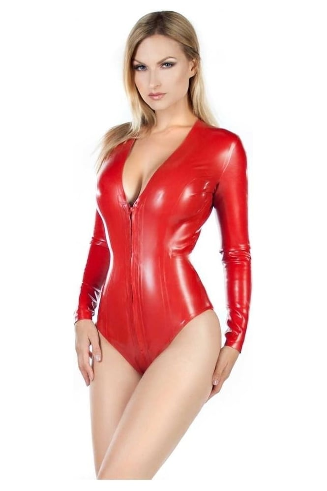 Lana Latex Rubber Leotard