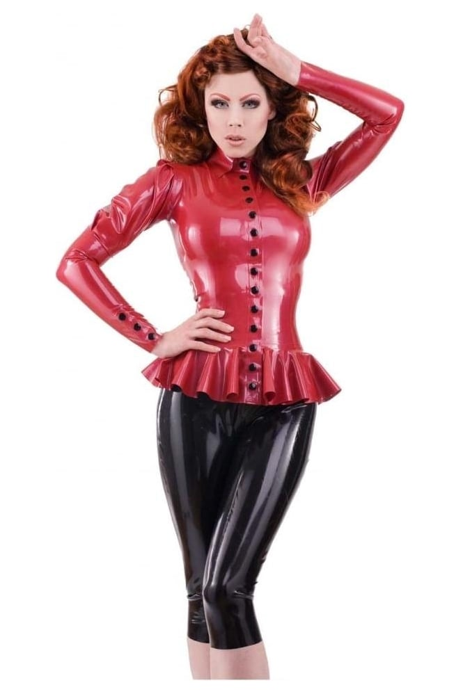 Libertine Peplum Latex Rubber Top