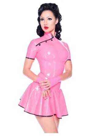 Lotus Petal Latex Rubber Dress