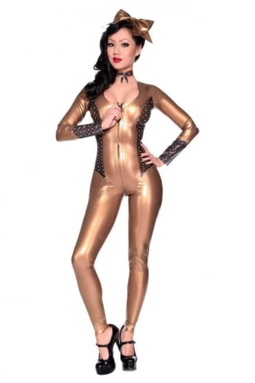 Love-Me-Not Latex Rubber Catsuit