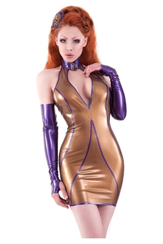 Lucky Strike Latex Rubber Dress.