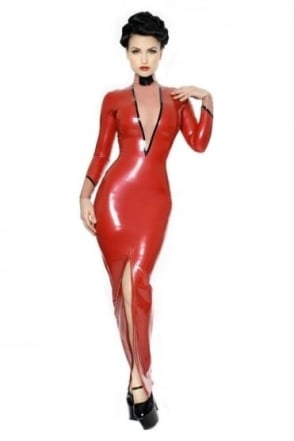 Madame Fille Hobble Latex Rubber Dress.