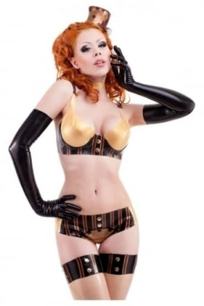 Madame Verne-Wells Low Riser Latex Rubber Briefs (without Cog)