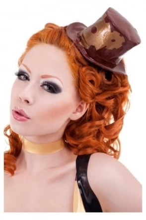 Madame Verne-Wells Mini Latex Rubber Top Hat
