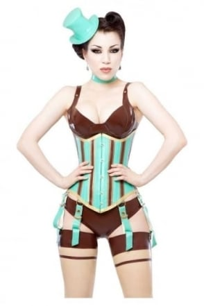 Madame Verne-Wells Underbust Latex Rubber Corset.