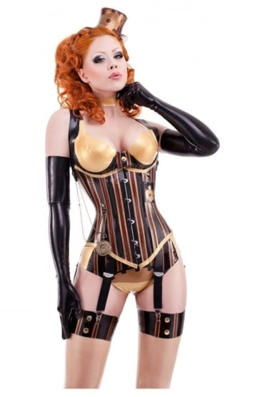 Madame Verne-Wells Underbust Latex Rubber Corset