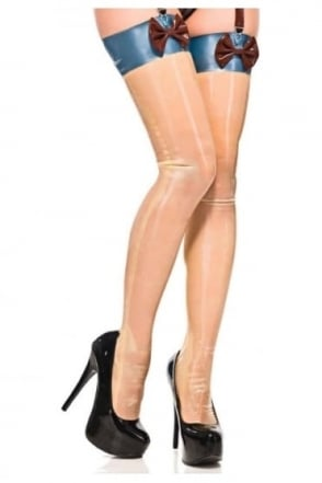 Mam'zelle Mumu Transparent Latex Rubber Stockings