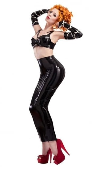 Mansfield Hobble Latex Rubber Skirt.