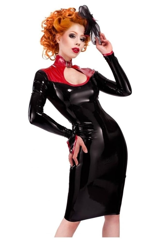 Mazu-Pellier Keyhole Latex Rubber Dress.
