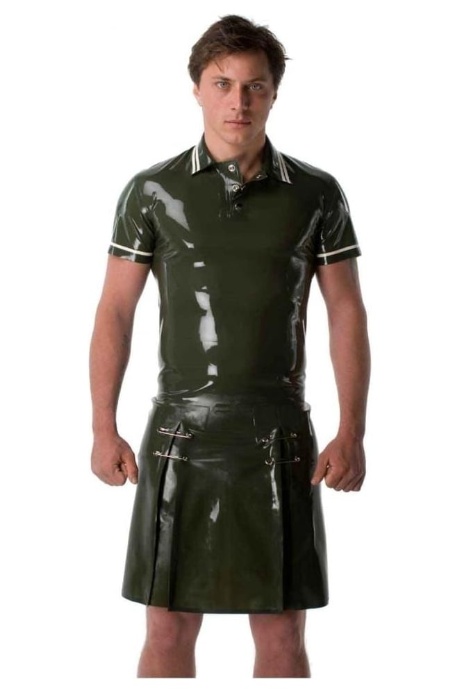 Men's Latex Rubber Kilt.