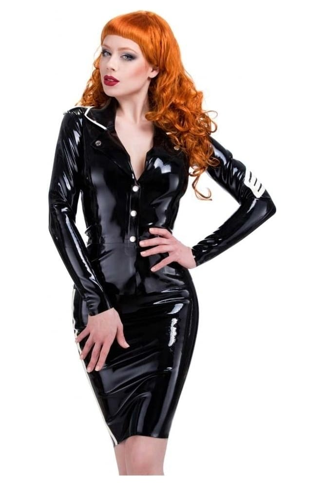 Military Fitted Latex Rubber Jacket.