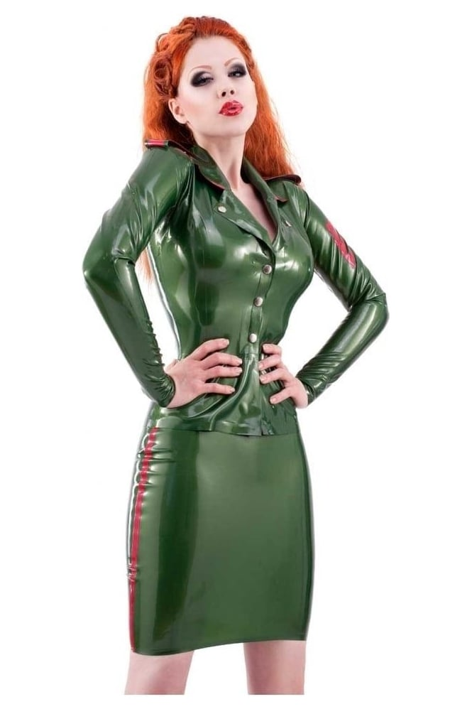 Military Latex Rubber Skirt.