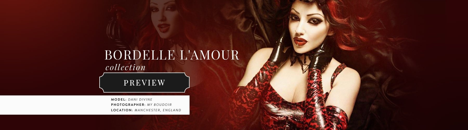 Desire Couture Latex Rubber Clothing Collection.