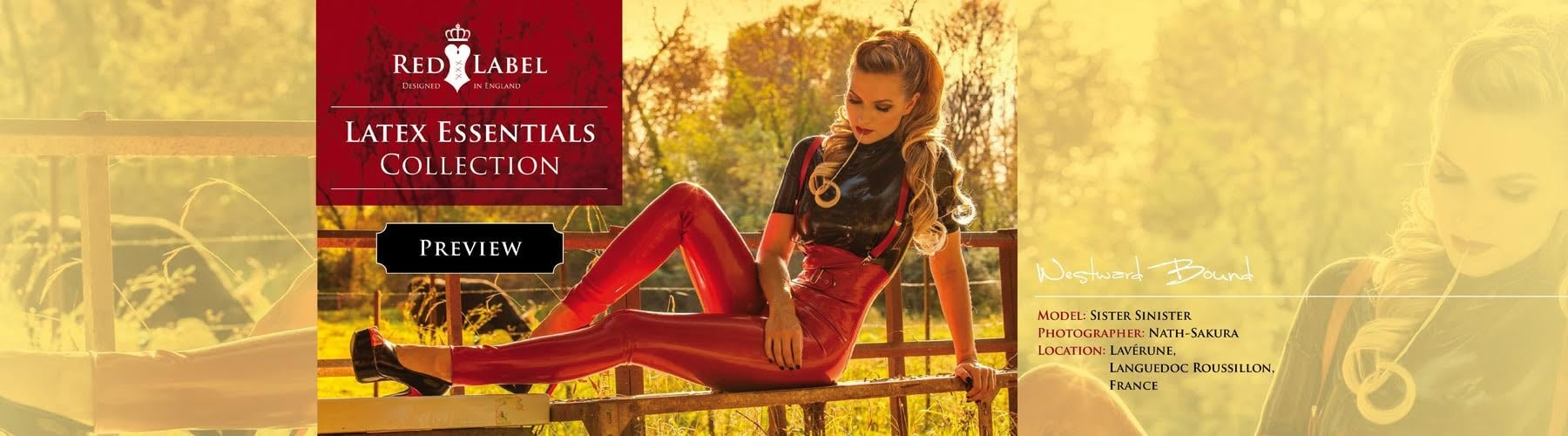 Red Label Essentials Latex Rubber Clothing Collection.