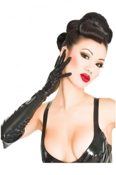 Moulded Elbow Latex Rubber Gloves.