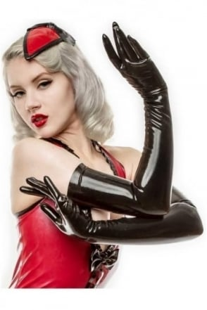 Moulded Long Latex Rubber Gloves.