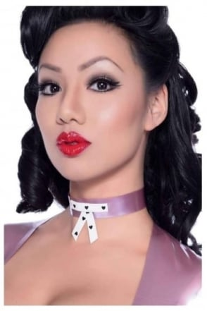 Narcissistic Love Bow Latex Rubber Collar