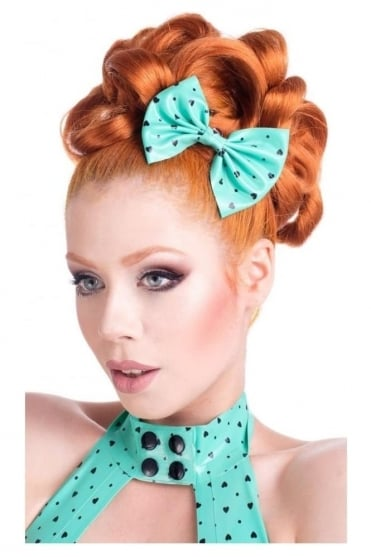 Narcissistic Love Latex Rubber Hair Bow