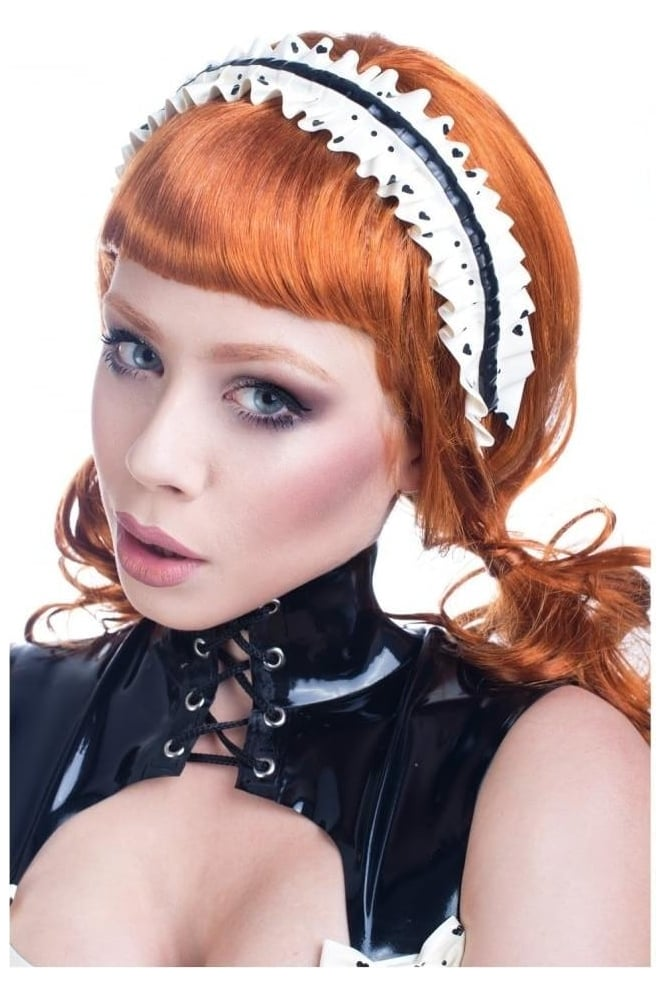 Narcissistic Love Maid Frilled Latex Rubber Headband