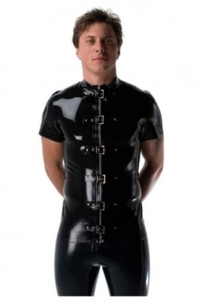 Neptune Latex Rubber Buckle Front Top.