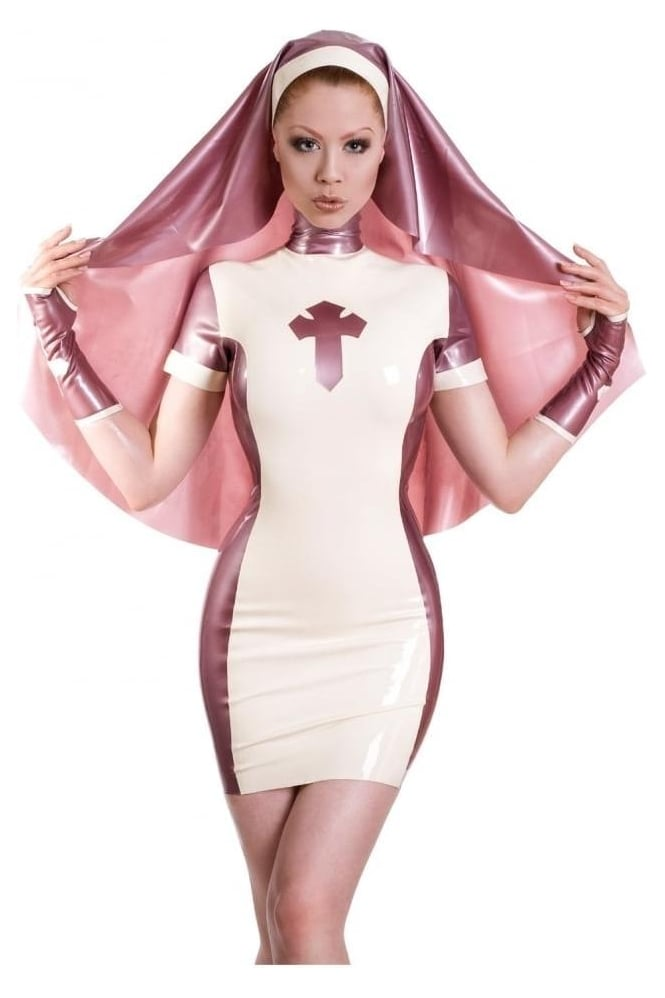 Nymph Nun Latex Rubber Uniform Dress and Habit