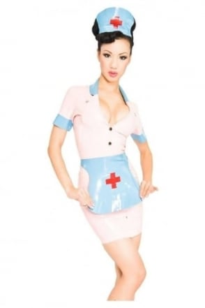 Nymph Nurse Latex Rubber Uniform.