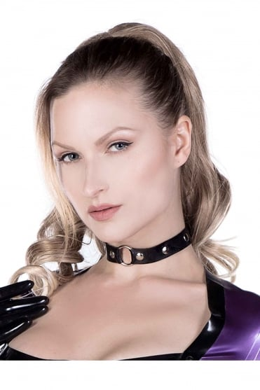 O Ring Mistress Latex Rubber Collar