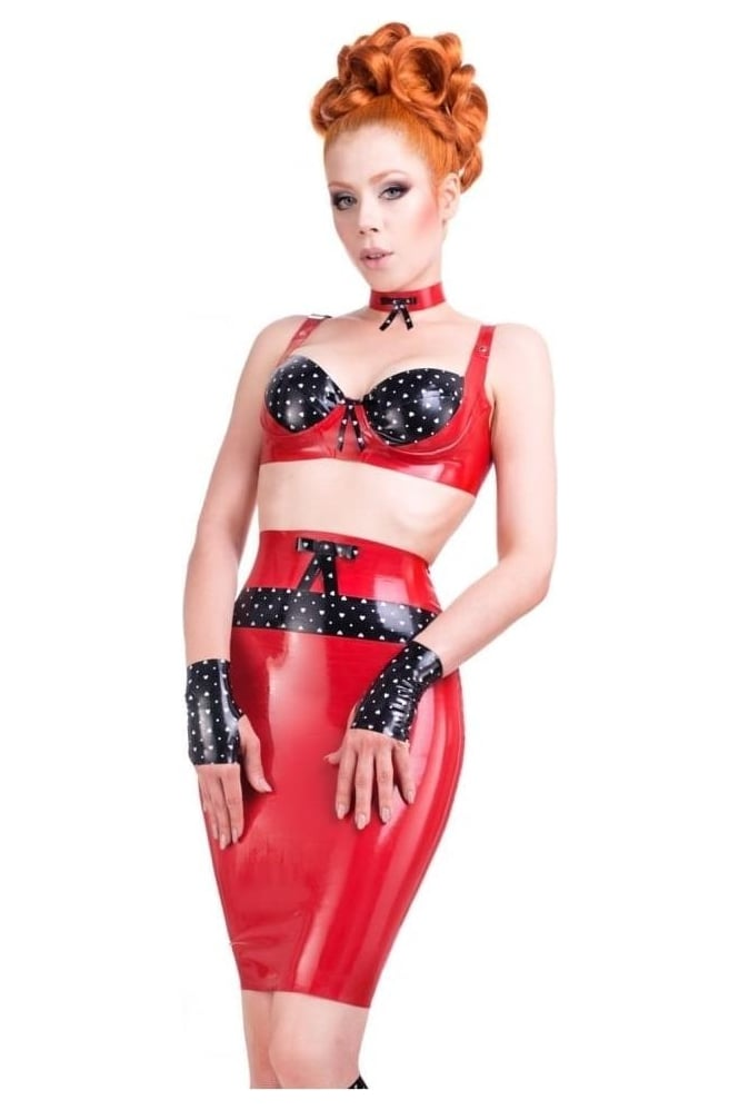 Obsessive Love Latex Rubber Skirt