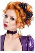Ophelia Latex Rubber Latex Rubber Hair Bow.