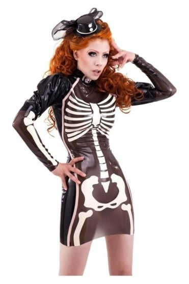 Palermo Skeleton Latex Rubber Dress.