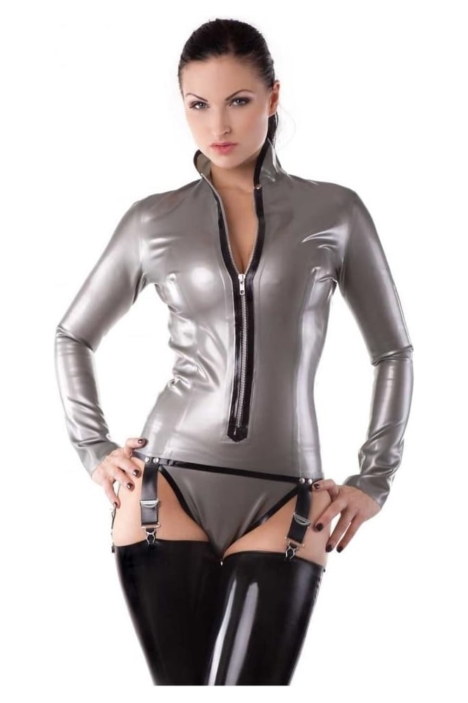 Panache Suspender Latex Rubber Top