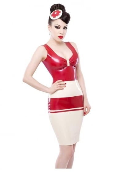 Panel Pencil Latex Rubber Skirt