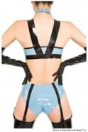 Pin Up Suspender Latex Rubber Latex Rubber Knickers.