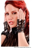 Pinstripe Latex Rubber Mitts