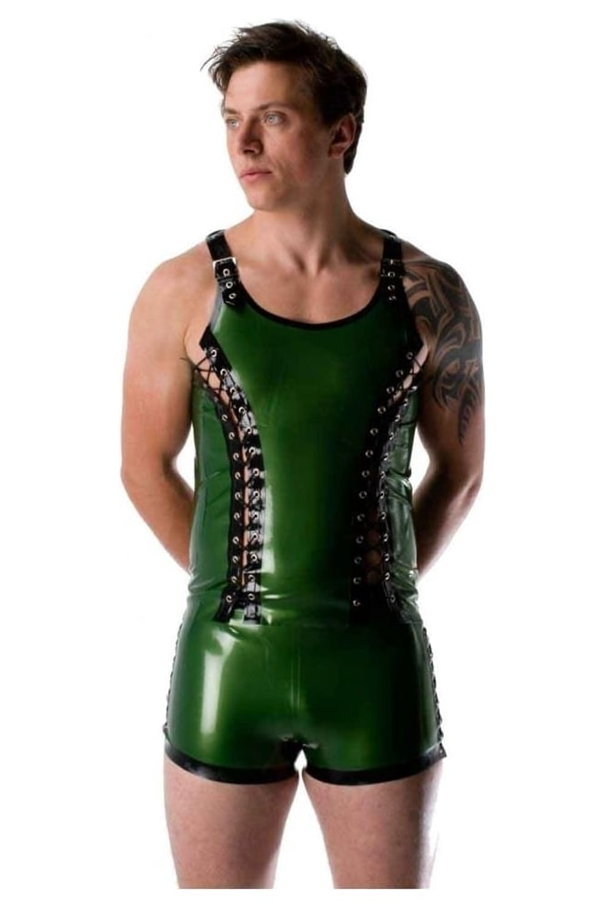 Piped Contrast Latex Rubber Vest.