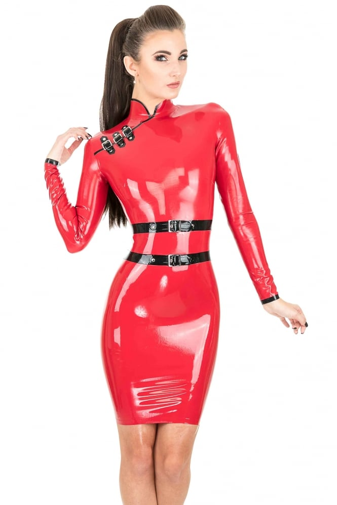 Qingren Latex Rubber Dress