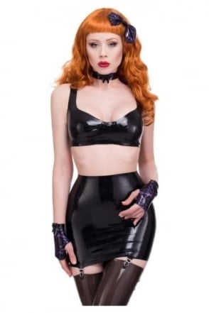 Red Label - Balconette Latex Rubber Bra