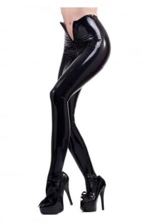 Red Label - Deluxe Latex Rubber Tights with two-way zip.