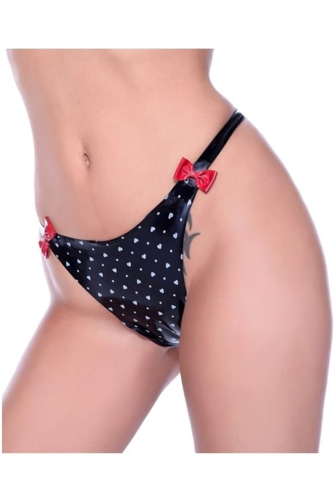 Red Label - Love Bomb Latex Rubber Thong
