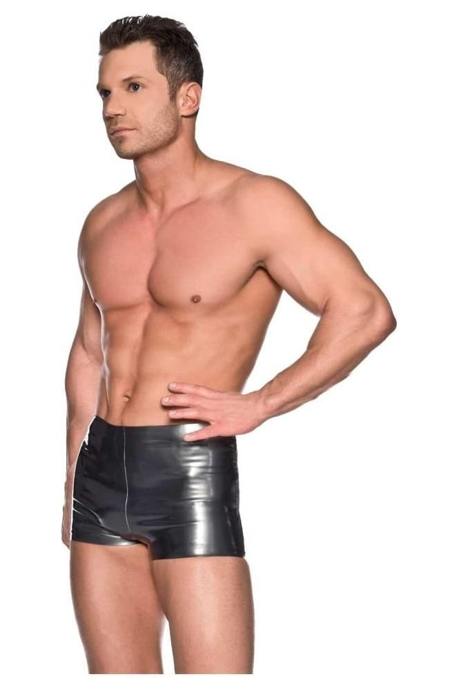 Red Label - Men's Boxer Latex Rubber Shorts.