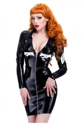 Red Label - Military Bitch Latex Rubber Uniform.