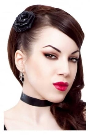 Ribbon Choker Latex Rubber Collar