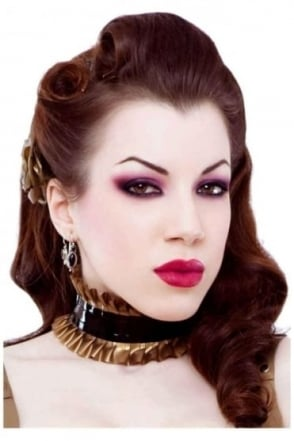 Risque Choker Latex Rubber Collar.