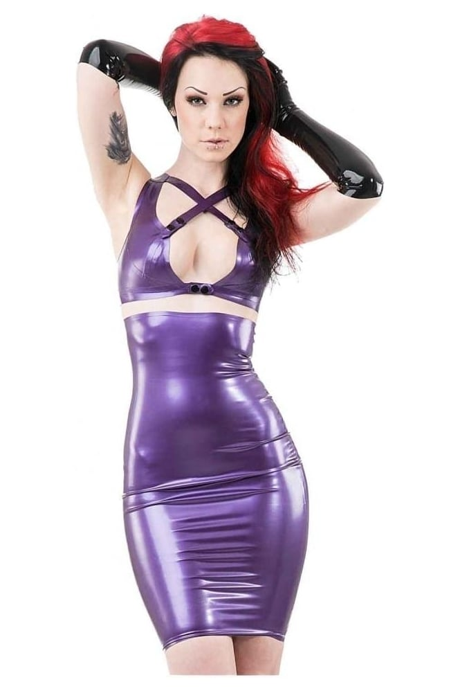 Strap Up Latex Rubber Bra